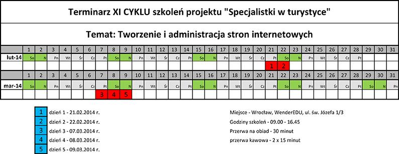 Terminarz CYKL_XI